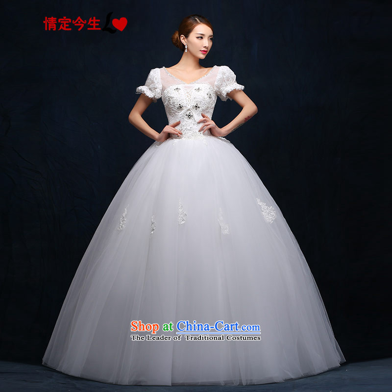 Love of the life of the word wedding shoulder deep V-Neck Strap cuff breathings princess align to Diamond White 2015 new products wedding dress female photographed the addition of three special tailor-made concept