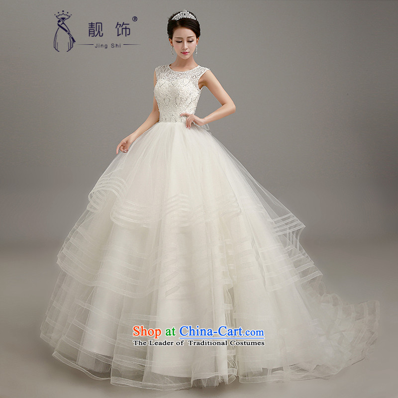 The new 2015 International Friendship wedding dress the word wedding marriages shoulder bridal suite upscale lace video thin wedding white streak of燲L