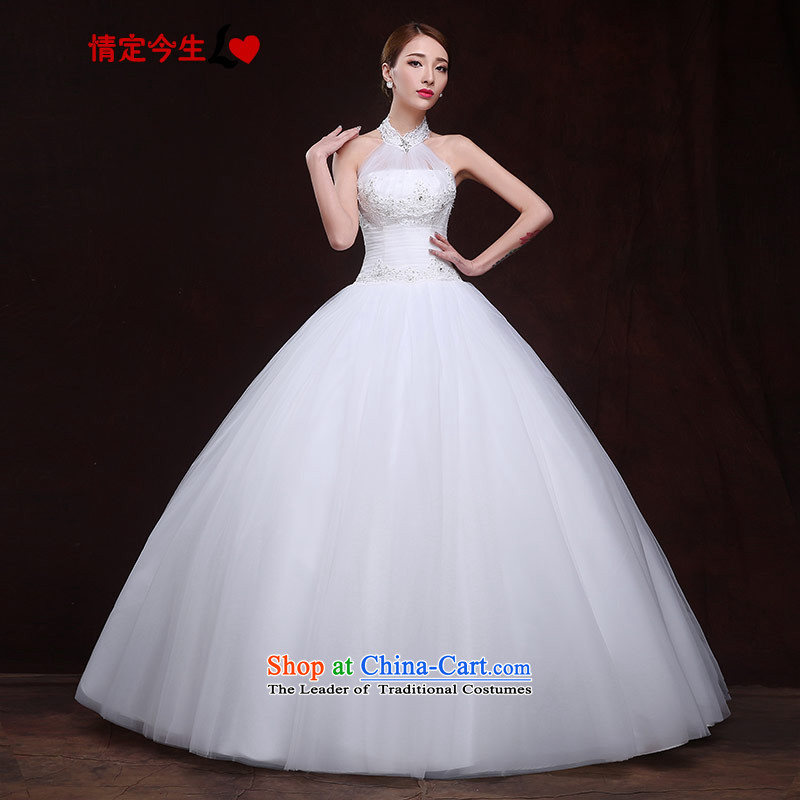 Love of the overcharged wedding-history and sexy romantic elegant white wiping the chest to Princess straps 2015 New Foutune of euro-root yarn bon bon skirt white S