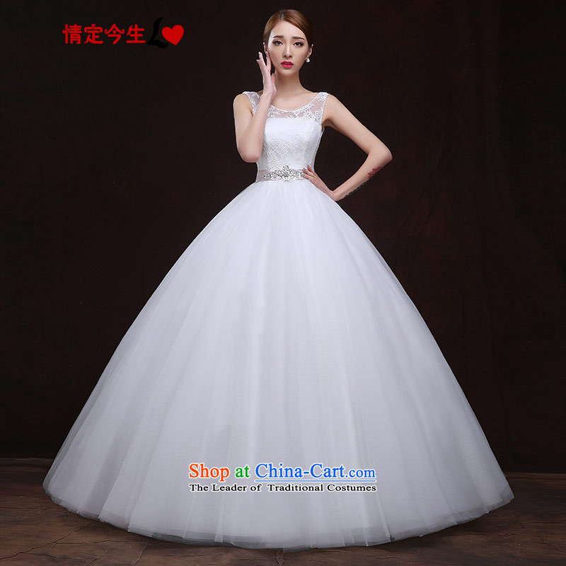 Maximum number of this life 2015 new wedding white field shoulder straps diamond lace pregnant women to align Top Loin of elegant Foutune of type wedding dress female white燬