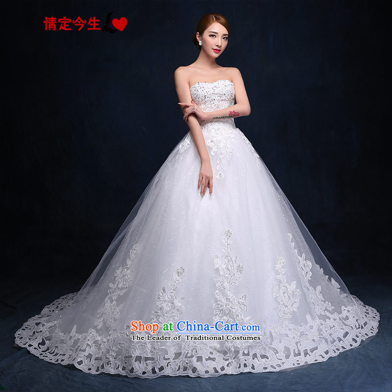 Love of the overcharged anointed chest tail Wedding?2015 new products diamond lace straps princess good fun gift Foutune of video thin wedding dress female white tailor-made exclusively concept