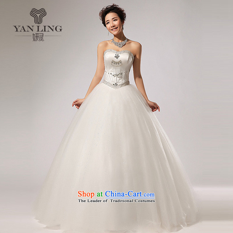 2015 new anointed chest diamond align to skirt the new bon bon wedding dresses HS260 dropped white S