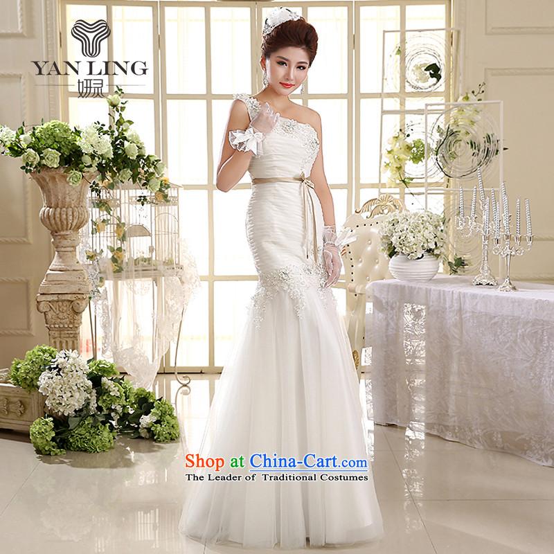 2015wedding dresses new Korean Princess shoulder straps wedding dresses crowsfoot wedding HS582 WhiteM, Charlene Choi spirit has been pressed shopping on the Internet