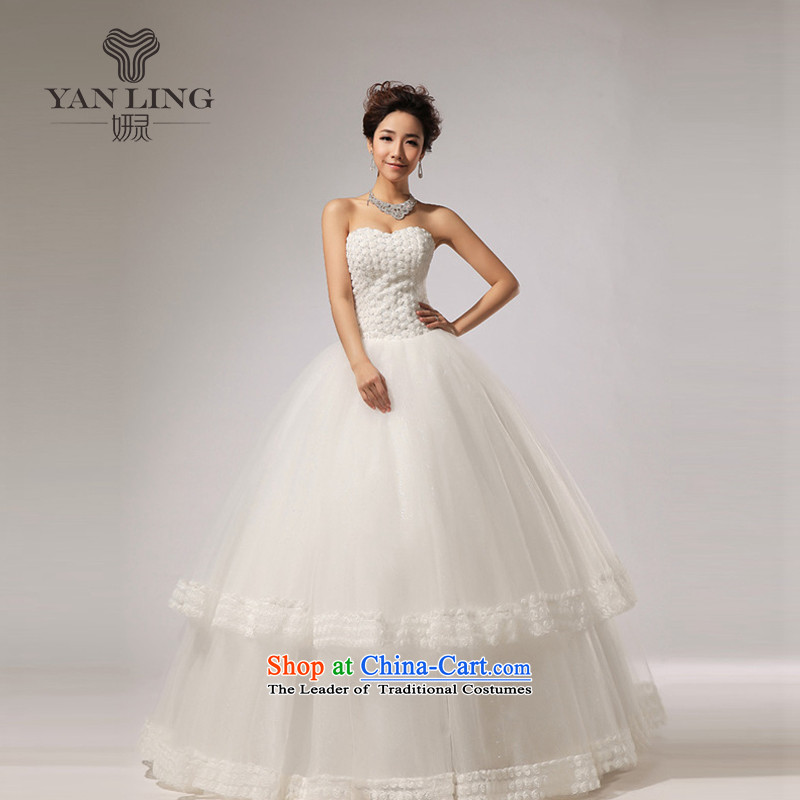 2015 new anointed chest Marquee to skirt for Hotel Courtesy bride wedding dresses HS267 White?M