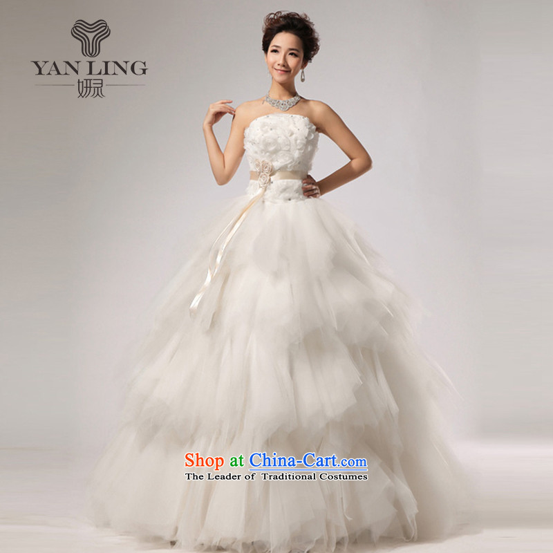 2015 new VERY elegant sweet anointed WANG antique chest stylish wedding White聽XL