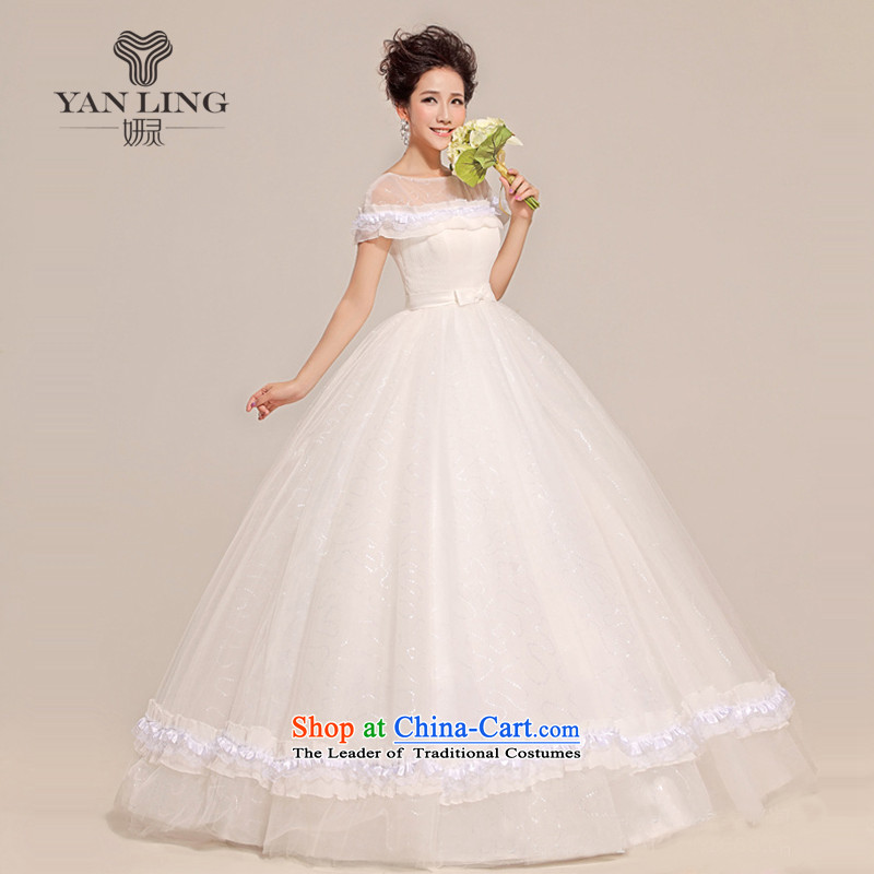 2015 new wedding sexy a field to align the shoulder bon bon butterfly end waist wedding HS213 White XL, Charlene Choi spirit has been pressed shopping on the Internet