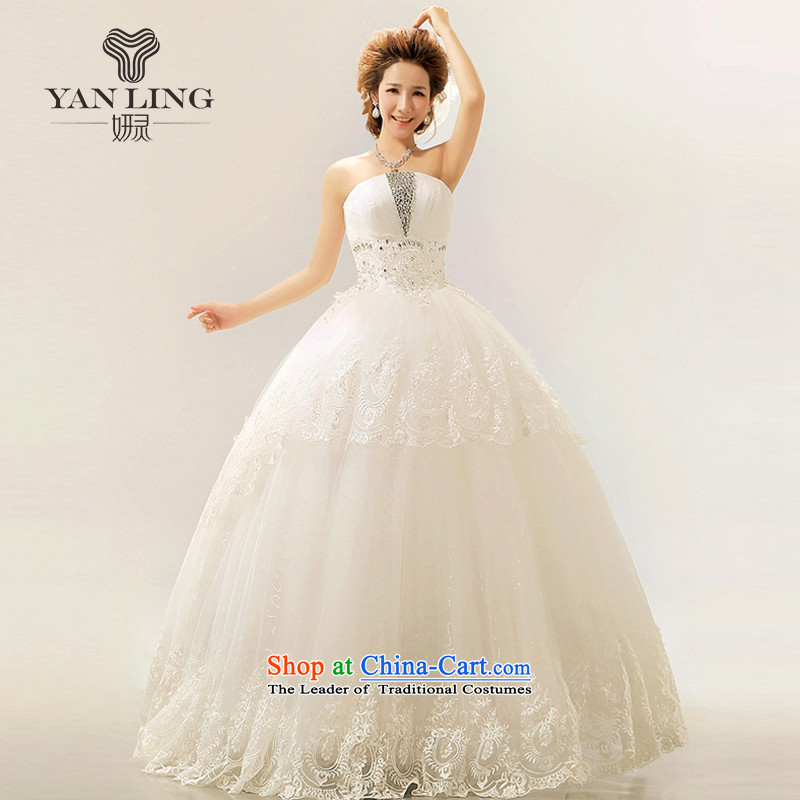 2015 new palace lace Korean anointed chest smearing The Princess Bride Wedding Royal White聽XXL