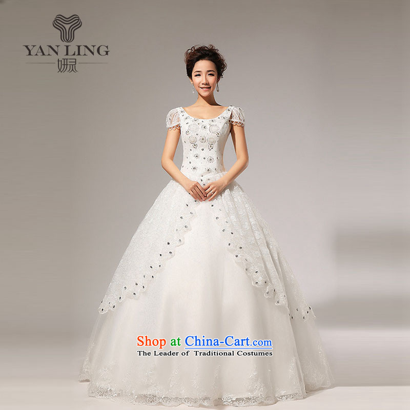 2015 new fashion princess bubble cuff bon bon bride diamond wedding dresses HS117 white S