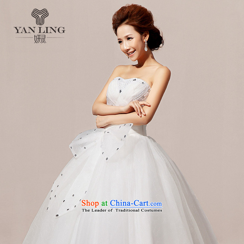 2015 new wedding dresses wedding anointed chest Korean wedding dress sweet white XXL, Charlene Choi Ling HS239 shopping on the Internet has been pressed.