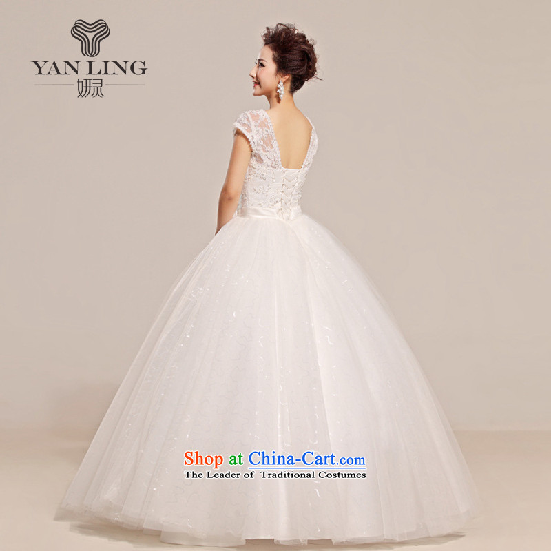 2015 new lace a field tent skirt the floral decorations shoulder wedding dresses HS315 WhiteXL, Charlene Choi spirit has been pressed shopping on the Internet