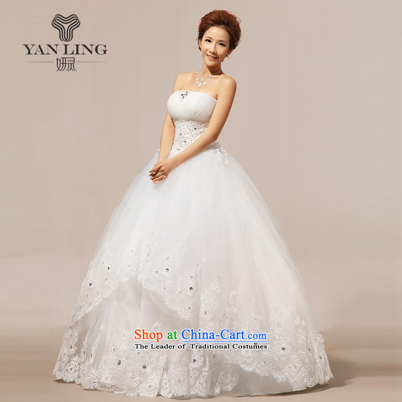The new 2015 winter wedding wedding anointed chest Korean wedding dresses wedding to align HS237 White?XXL