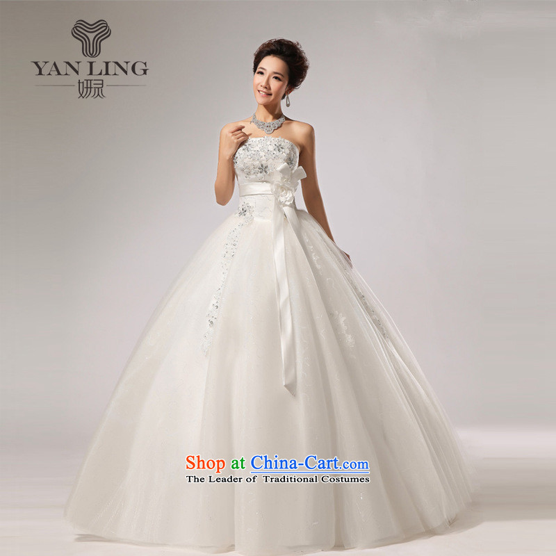 2015 new anointed chest Fung skirt wedding band bride hotel wedding dresses long skirt HS271 White?XXL