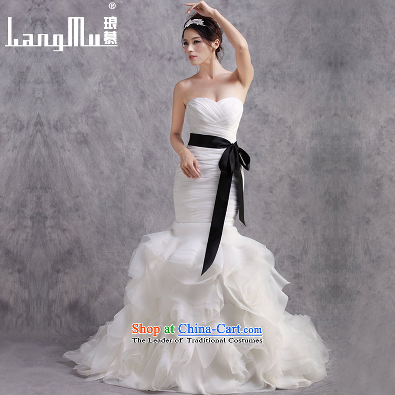 The?new 2015 Luang wedding dresses and chest tail crowsfoot wedding waist chest strap adjustment Sau San m White Advanced Customization