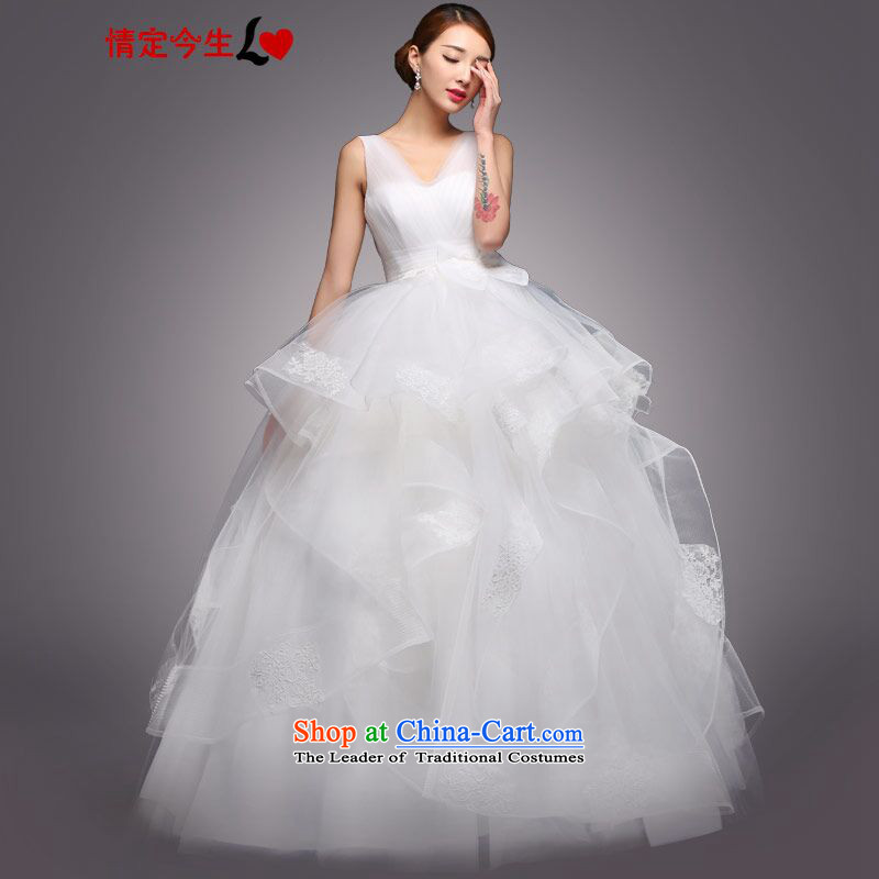 Love of the life of the?new Large 2015 Korean word shoulder Princess Bride wedding dress bon bon sin with video thin pregnant women wedding dress bow tie)?L
