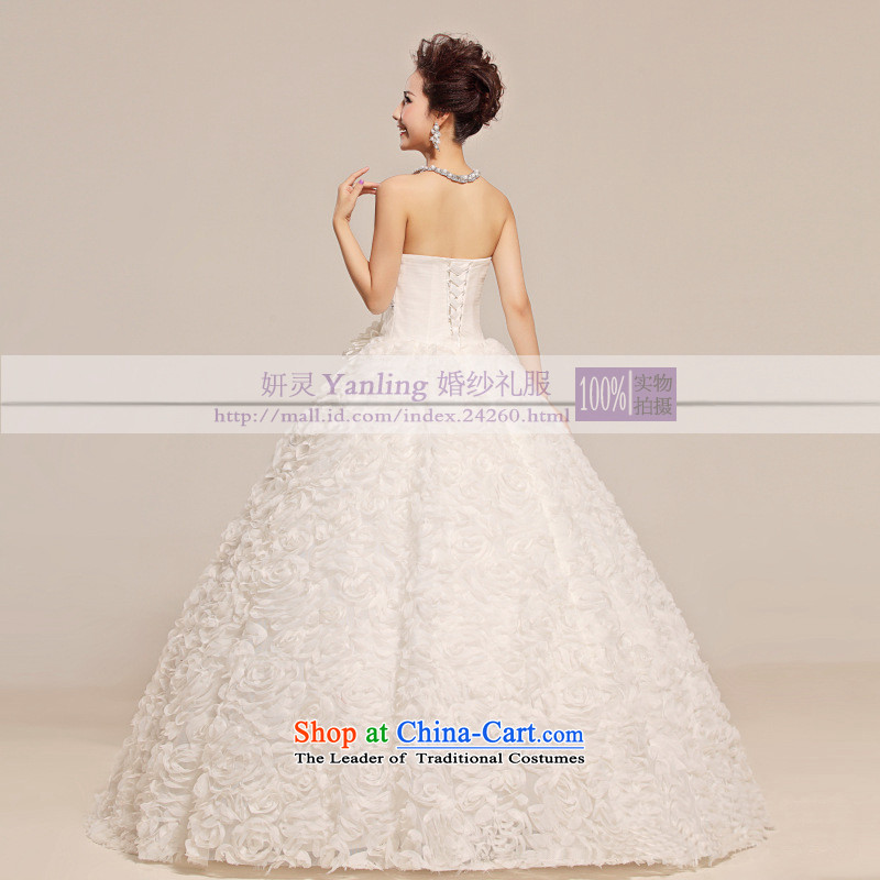 2015 new anointed Chest Flower waist floral decorations Fung skirt wedding White M, Charlene Choi spirit has been pressed shopping on the Internet