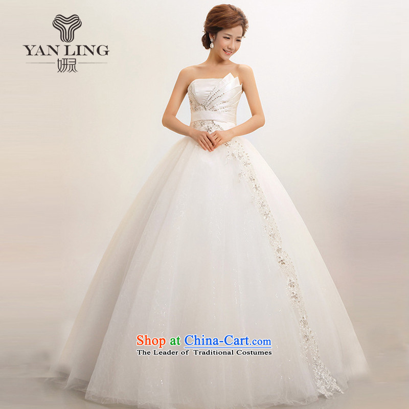 The Korean version of the new 2015 Korean stars of the same wipe the chest to marriages wedding dresses white�L