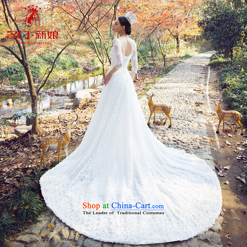 A Bride bride wedding marriage wedding new 2015 Antique original design custom 2529 White燤