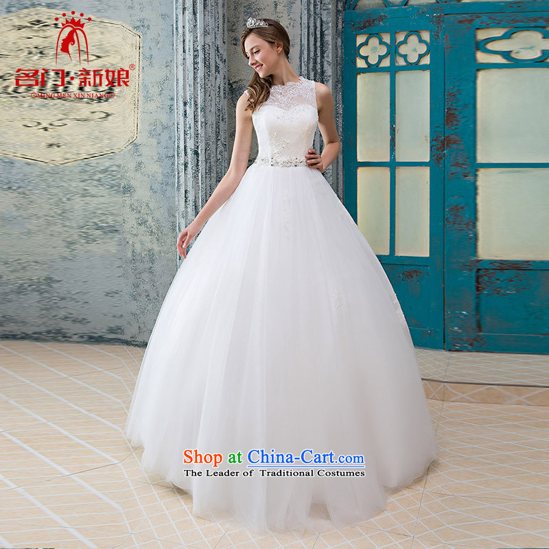 A Bride wedding dresses lace a shoulder wedding stylish and simple wedding original 951 White?M