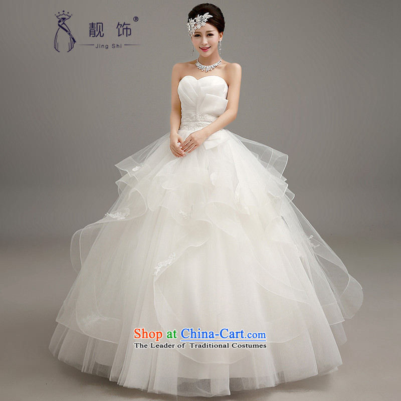 The talks with the new 2015 stylish wedding Korean wiping the chest to align graphics thin wedding dresses marriages bon bon skirt wedding white  S