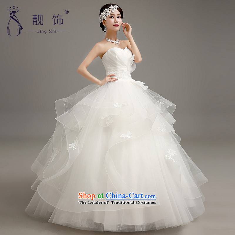 The talks with the new 2015 stylish wedding Korean wiping the chest to align graphics thin wedding dresses marriages bon bon skirt wedding white  S talks trim (JINGSHI) , , , shopping on the Internet