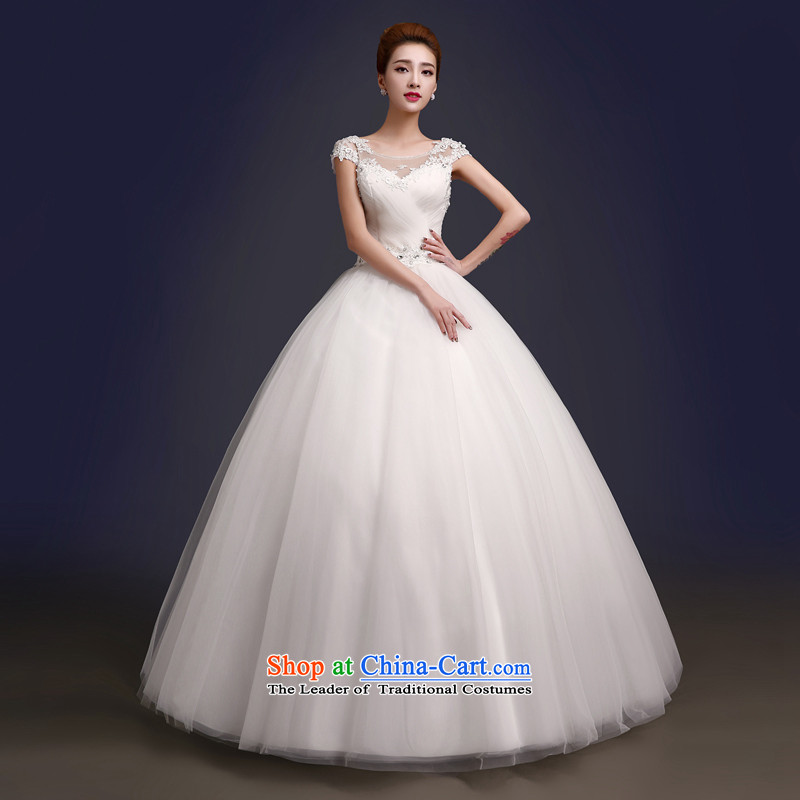The color is new) 2015 autumn and winter stylish Korean word shoulder bags shoulder straps to align the bride Sau San video thin wedding dresses white white high-end to pro-contact customer service MM