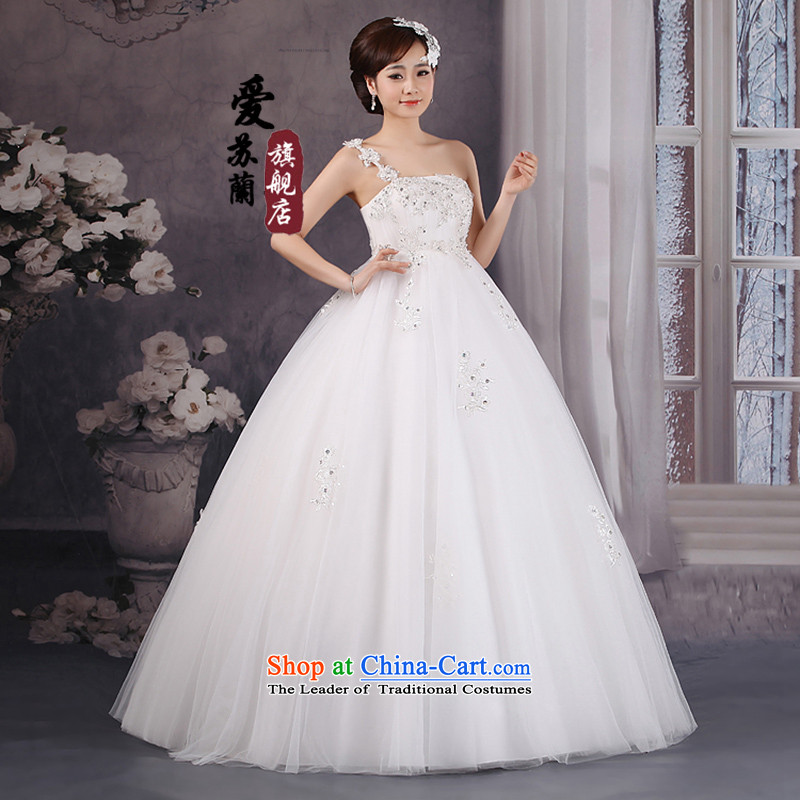 The new wedding, the floral decorations of the shoulder wedding Korea high-lumbar wedding 201258), wedding pregnant women wedding white XXXL, Su-lan , , , Love shopping on the Internet