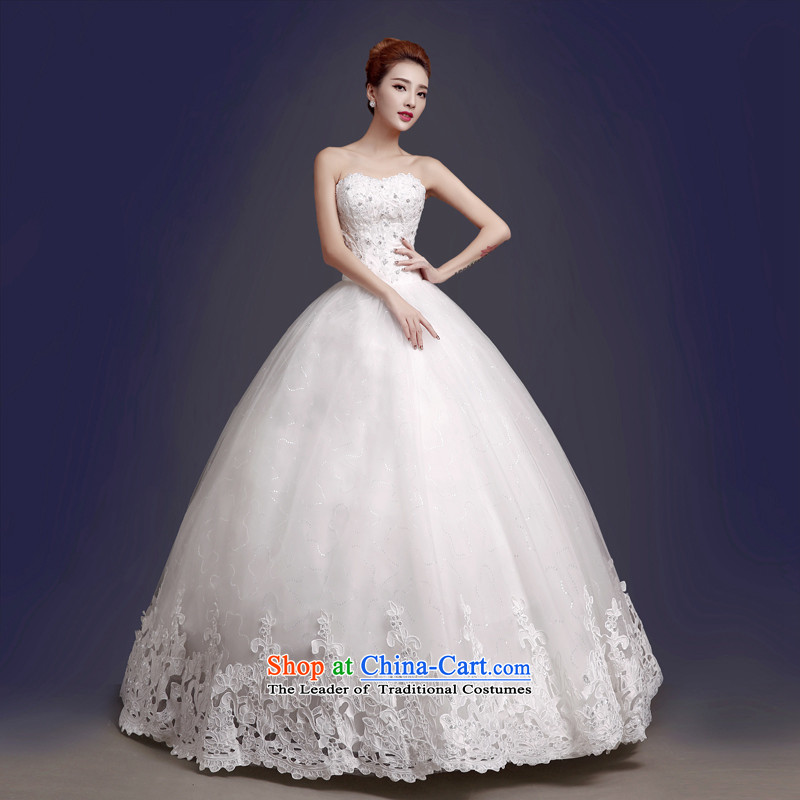 The color is sa�15 new wedding dresses Korean fashion to align with Chest straps bride wedding autumn and winter thick wedding white high-end up doing pro-contact customer care MM