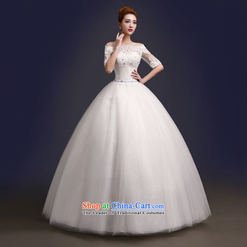 The color is Windsor autumn and winter 2015 new wedding dresses Korean word shoulder lace diamond cuff to align in the bride wedding video thin white Sau San for high-end up doing pro-contact customer care MM