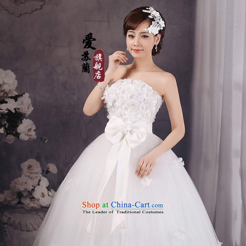 Wedding dress�2015 new high-Lumbar Korean large pregnant women bandages graphics to align the thin red white�XXXL White