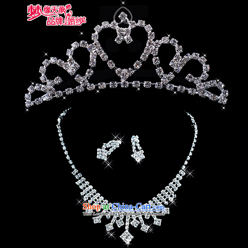 The leading edge of the days of the 2015 bride necklace earrings Bridal Suite bride jewelry XL158 necklace crown earrings kit