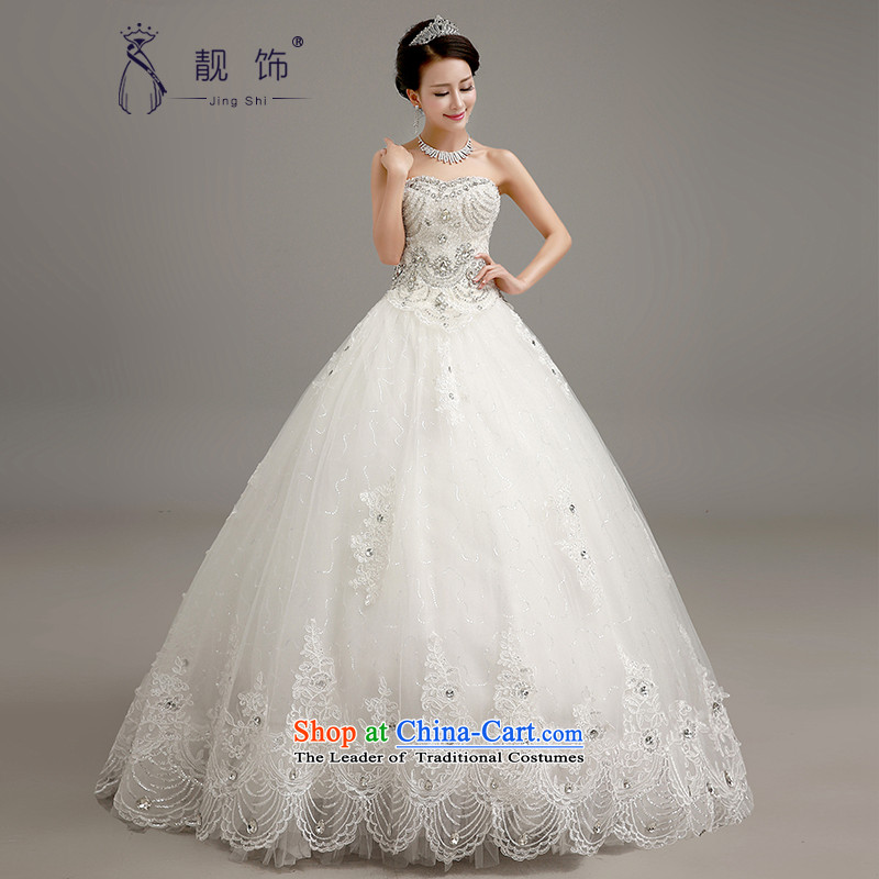 The new 2015 International Friendship wedding dresses Korean anointed chest lace bridal suite upscale Diamond Video thin snap to bon bon skirt wedding white luxury flash drill XXL