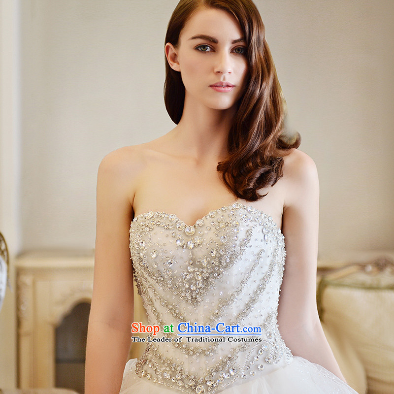 Full Chamber Fong Muse wedding dresses 2015 spring wiping the chest ultra long feathers tail bride wedding bon bon tail 100cm 173-XL, skirt full Chamber Fong shopping on the Internet has been pressed.