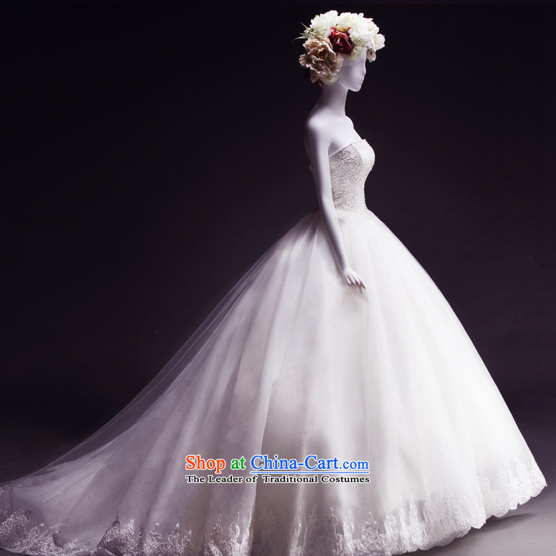 Full Chamber Fong new products wedding dresses new 2015 tail spring wiping the chest brides thick wedding sleeveless lace tail 173-L 100cm