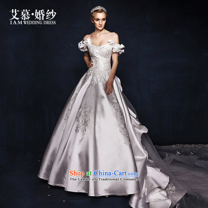 The wedding dresses HIV by the year�2015, in accordance with the new word where Mary Magdalene chest shoulder lace long tail wedding white�S