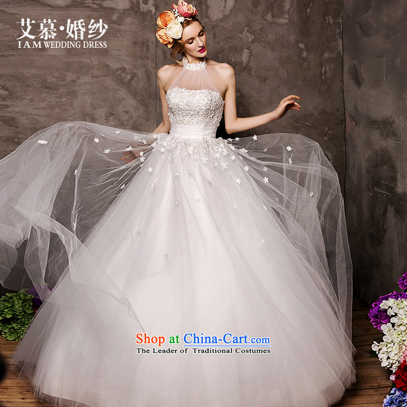 The wedding dresses HIV 2015 new improving reproductive and chest wall also align the two through to bon bon skirt wedding White M