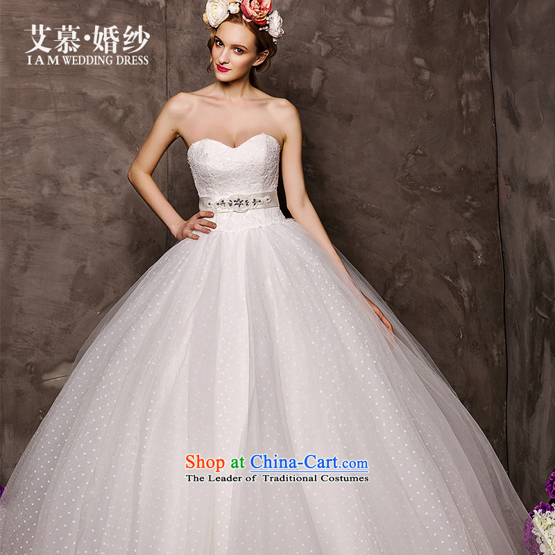 The wedding dresses HIV�15 New Cloud Hsichih wiping the breast height to align the waist bon bon skirt wedding white燬