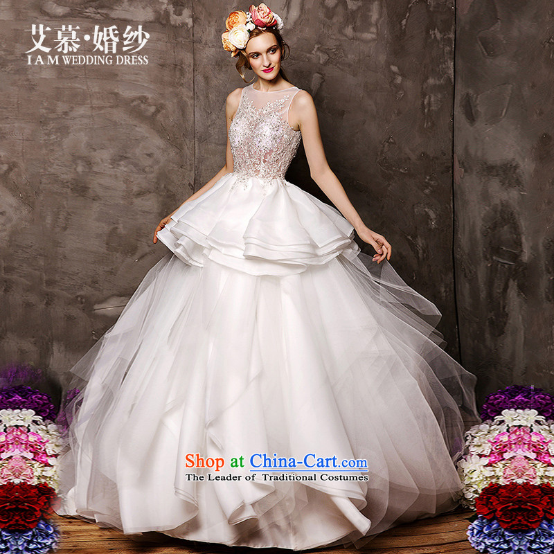 The wedding dresses HIV 2015 new winter rain Tung semi permeable lace sexy to align bon bon skirt wedding white L