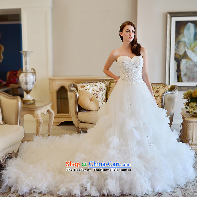 Full chamber fangqiu 2015MTF winter new anointed chest wedding dresses marriages with large tail wedding tail 165-S 100cm