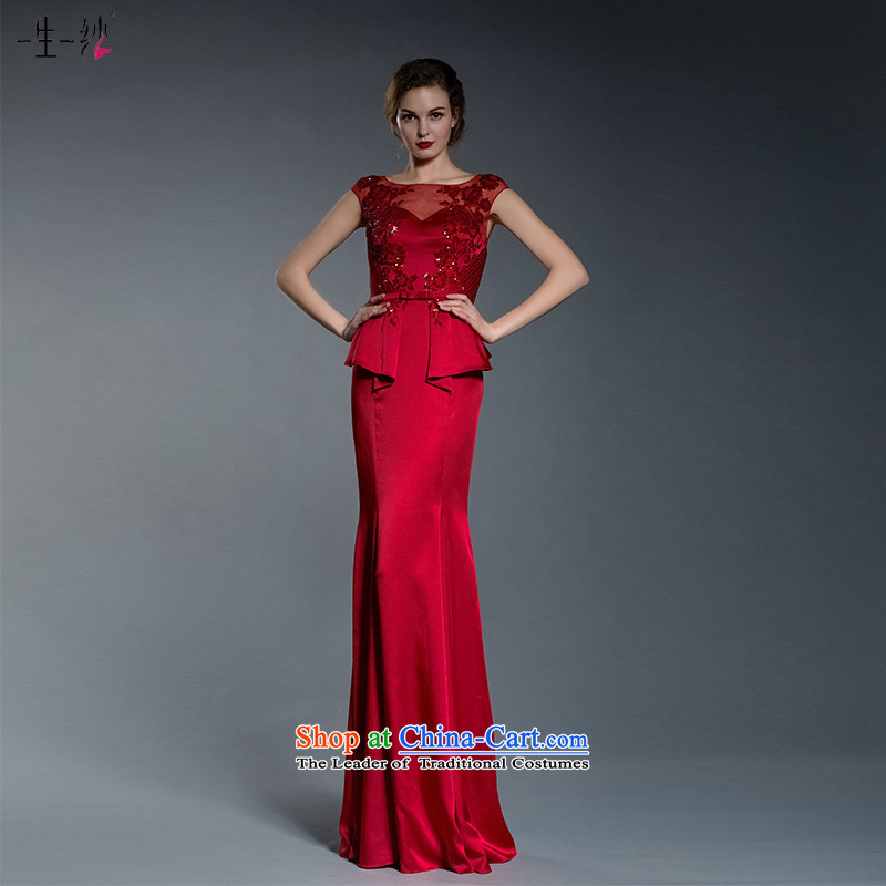 A lifetime of 2015 the new bride bows dress autumn evening dress banquet dresses�402401368�red tailored for not returning the not-for-
