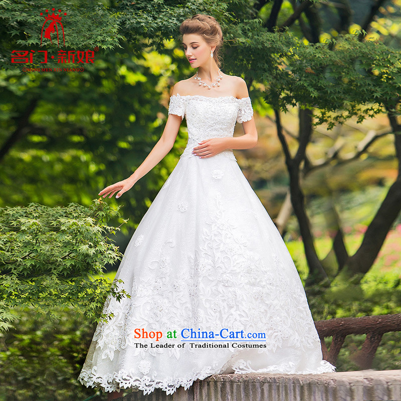 A Bride wedding dresses with new drill燗 Word 2015 skirt to align the wedding sweet 887 white made 25 day shipping