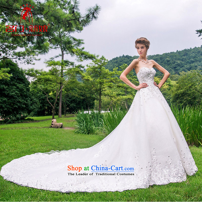 A Bride wedding dresses new 2015 Deluxe Big tail wedding luxury palace 891 to drill 25 day shipping