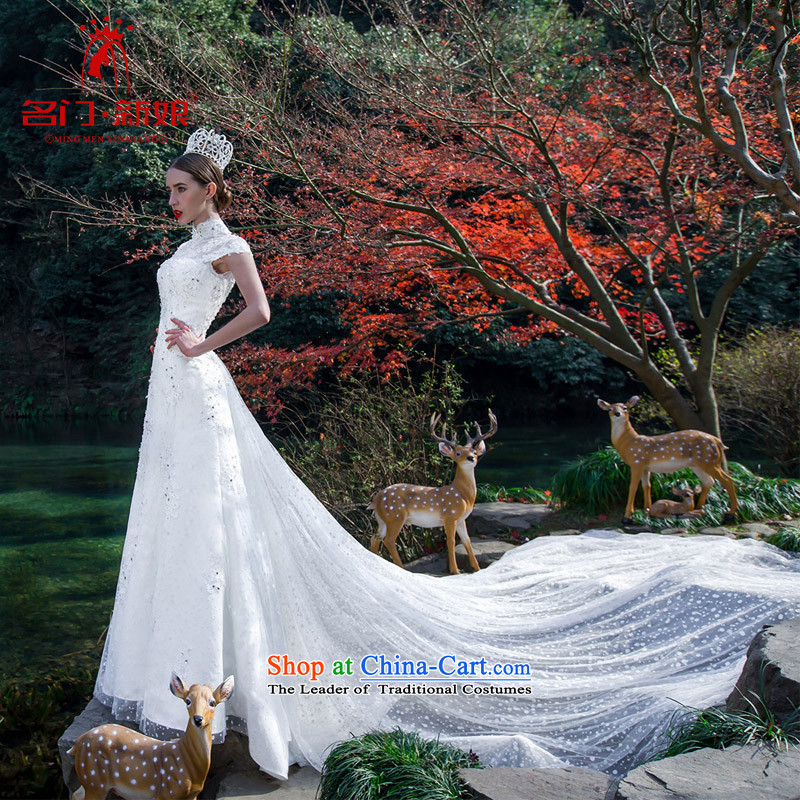 A Bride wedding dresses�15 Original Design population through two Princess Lily large tail 2,521 white made 25 day shipping
