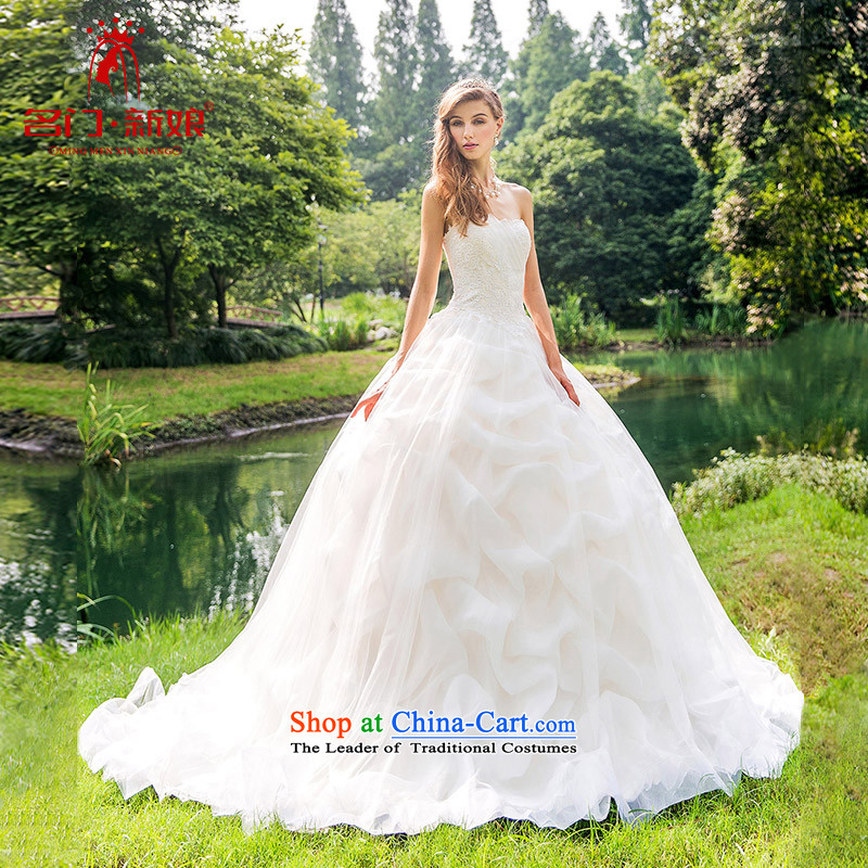 A Bride 2015 English Original Design Palace wedding small trailing wiping the chest light champagne 892 shallow champagne made 25 day shipping