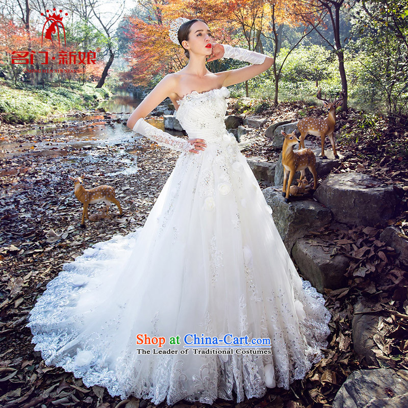 A Bride winter anointed chest wedding Dreams Big flowers tail original design custom high-end 2526 made the white 25 days Shipment