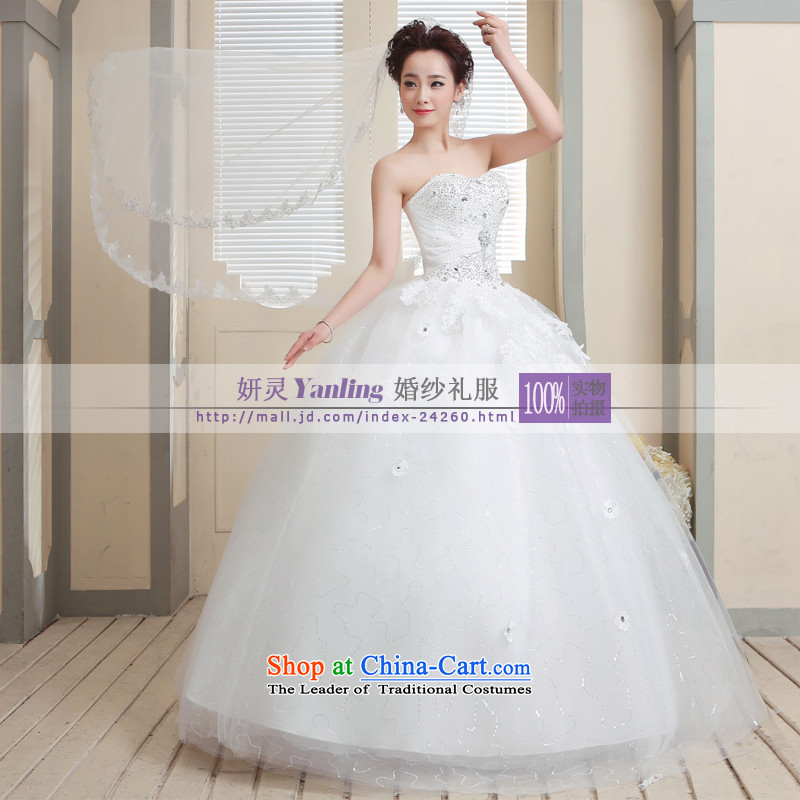 Charlene Choi Ling _YANLING Korean anointed chest bride wedding dresses and elegant?was carried out at 14008?White?M Strap
