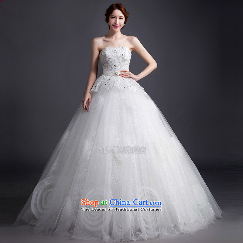The spring of 2015 New White chest to pregnant women and wedding stylish wedding dress a bride wedding wedding tail wedding XL