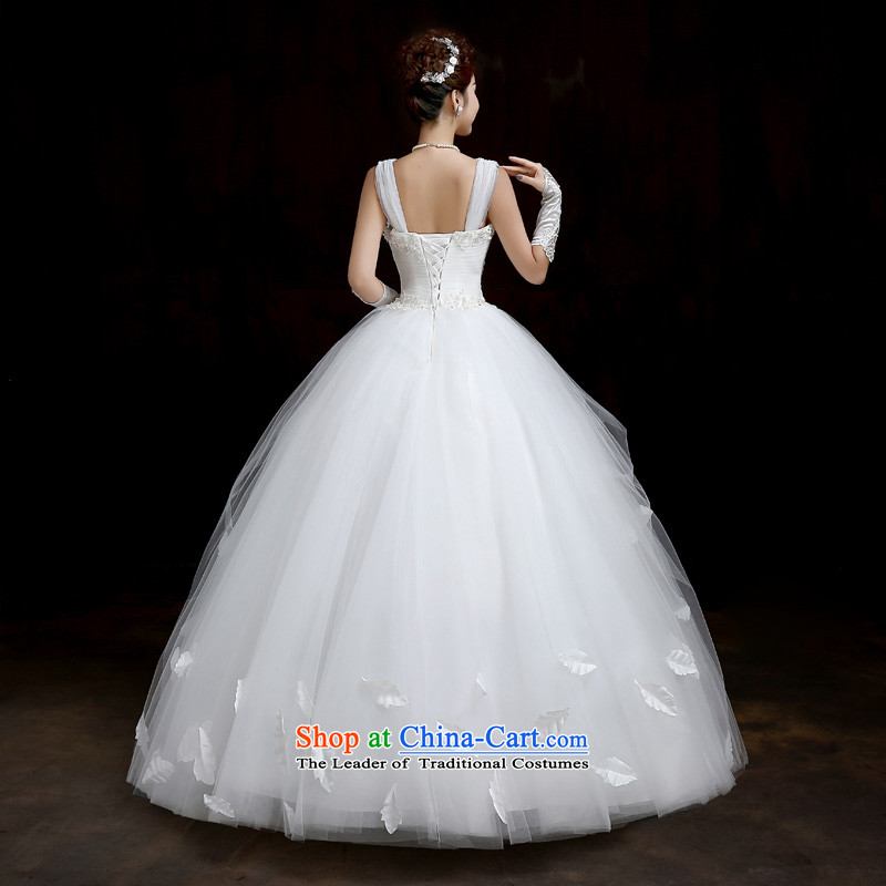 Su Xiang Edge聽2015 new one third of the word through video thin married women shoulder wedding dresses to align bon bon skirt white wedding white聽L, manually Su Xiang edge , , , shopping on the Internet