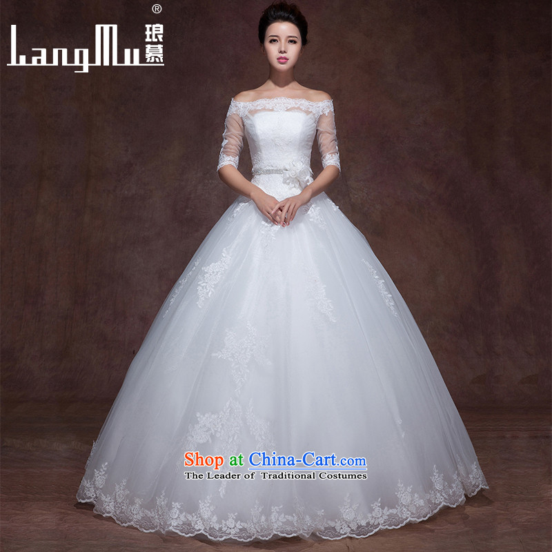 The?new 2015 Luang slotted shoulders minimalist elegance wedding dresses lace of drilling straps to align the wedding popular anointed chest_, a plus advanced customization
