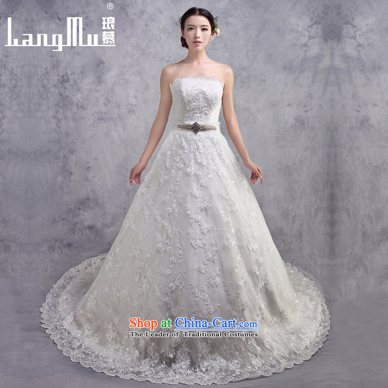 The�new 2015 Luang wedding dresses lace anointed chest Sau San tail A big wedding personalized custom sizes custom