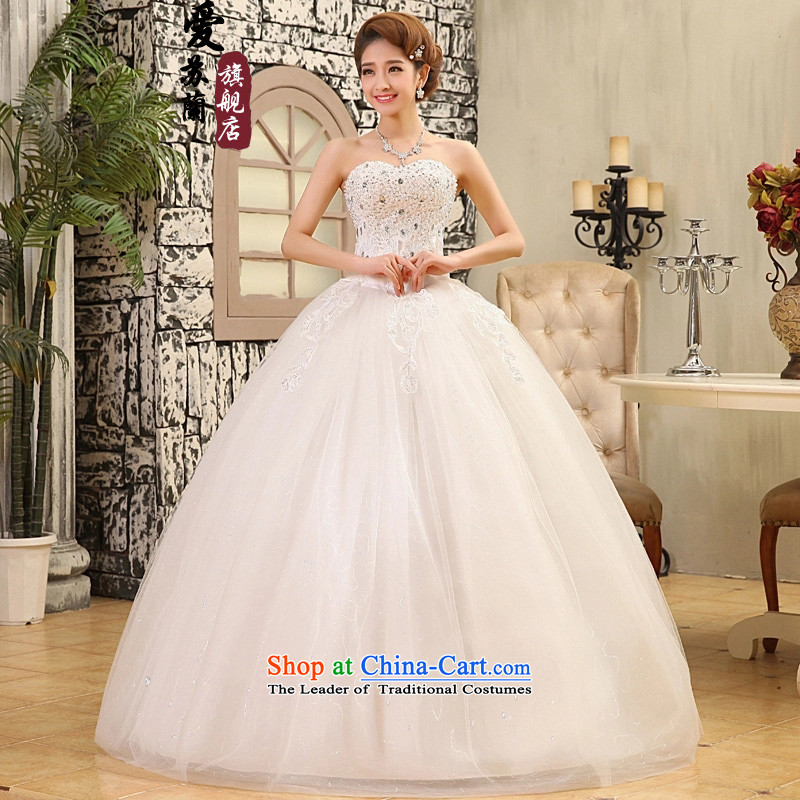 The new Wedding Car unit lace on chip wedding dresses marriages wedding-selling offer wedding White�M